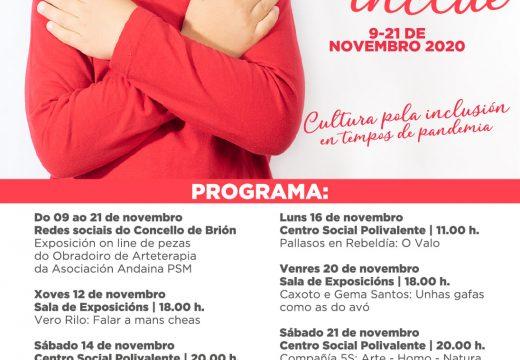 Unha exposición en liña de pezas do obradoiro de Arteterapia da asociación Andaina Pro Saúde Mental abre o III Festival Brión Inclúe