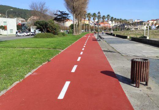 O Concello de Cariño finaliza os traballos de renovación do carril bici
