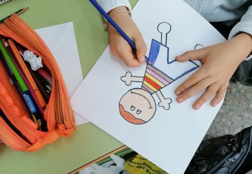 Escolares do CPIP Antonio Orza Couto conmemoran o Día Internacional da Infancia cunha manualidade sobre os seus dereitos