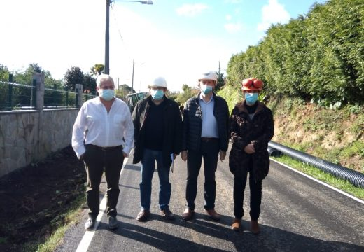 O Concello de Miño comeza a construción dun corredor peonil en Viadeiro (Castro) para a seguridade de veciños e peregrinos