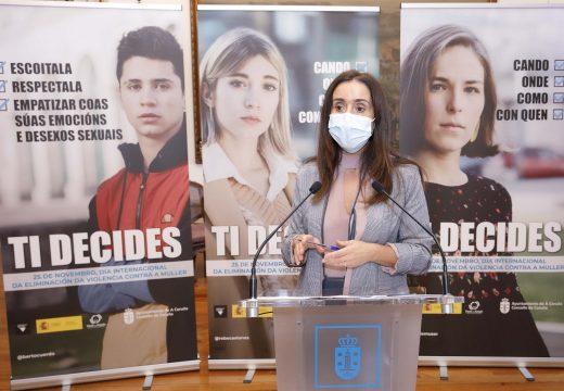 """O Concello lanza a campaña """"Ti decides"""" para concienciar á xuventude sobre a violencia de xénero"""