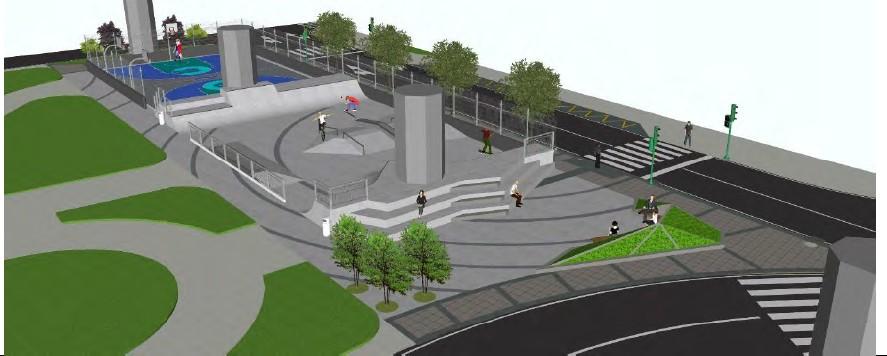 O Concello construirá un skatepark e unha pista multideporte na praza de José Toubes Pego en Catro Camiños