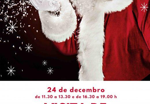 Papá Noel recibirá este xoves aos nenos e nenas de Cariño dunha forma segura