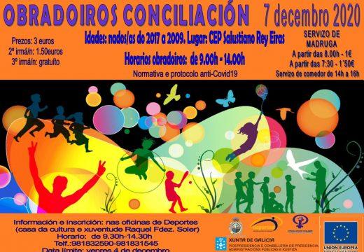 A Pobra contará con obradoiros de conciliación na xornada do día 7 de decembro