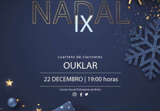 A Escola Municipal de Música Magariños celebra o IX Festival de Nadal cun concerto do cuarteto de clarinetes Ouklar