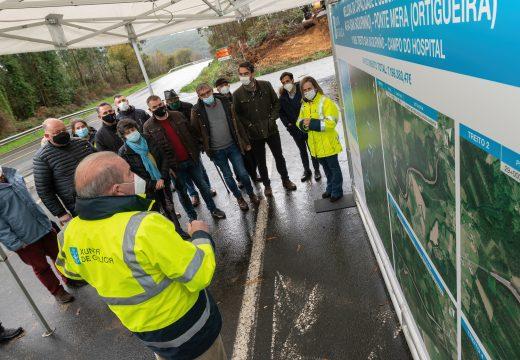 Comezan as obras de mellora da estrada de Ortigueira