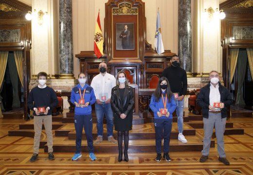 O Concello honra a seis campioas e campións nacionais coruñeses