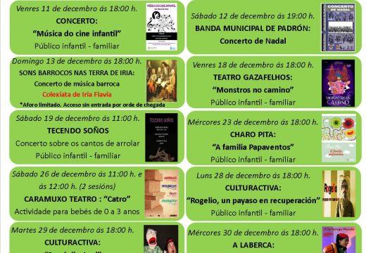 O Concello de Padrón presenta unha programación de Nadal adaptada á situación da Covid-19